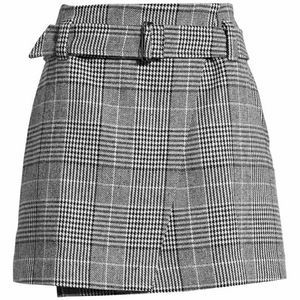 Leith Black Sharol Plaid Houndstooth Miniskirt 3X
